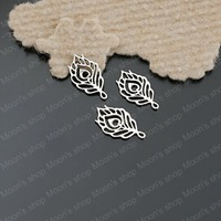 (26306)Fashion Jewelry Findings,Accessories,charm,pendant,Alloy Antique Silver 22*13MM Feather 50PCS