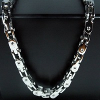 5mm 21.6'' Men's Jewelry Fashion Stainless Steel Motorcycle Bike Chain Necklace