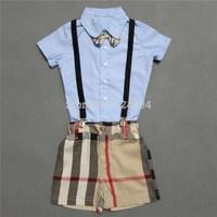 free shipping 2014 fashion  boys set clothing  boys's sets  shirt +pants kid's set100% cotton good quality for 1-5 years old boy