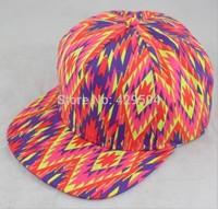 Aztec pattern custom blank 6 panel snapback cap custom headwear