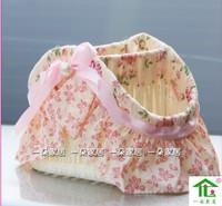 YIDUO 2014 new Pastoral Home Furnishing cloth flower cosmetic storage box remote rattan basket sundry basket storage basket