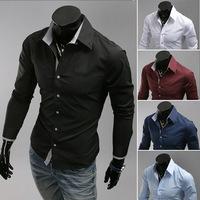 fashion autumn and spring men's shirt  Pure color clothes  shirt 3 color M-XL (LC0018)