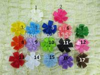 Free Shipping Satin Ribbon Flowers wholesale ,100ps/lot