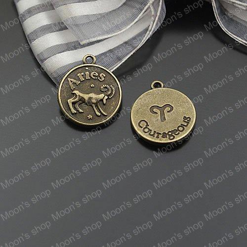 (24594)Alloy Findings,charm pendants,Antiqued style bronze tone Aries Horoscope 20PCS(China (Mainland))