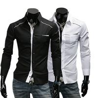2014 gentleman shirt  men  shirts  cotton fashion long sleeve  men clothes    M-XL (LC0030)