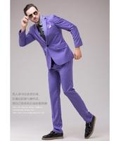 Bright colors suit set Male suit multicolour purple suit formal dress  men's clothing formal dress