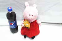 EW-PP-015 factory direct with no PS 100% real photo plush peppa pig toys baby toys 30cm peppa pig