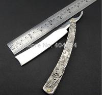 RFS-290 Vintage Aluminum Straight Edge Stainless Steel Shaper Barber Razor Folding Shaving Knife