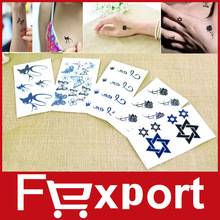 5 Sheets/Set Sexy Temporary Tattoo Stickers  Woman Waterproof  407(China (Mainland))