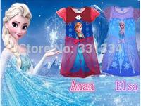NEW Retail 2014 Girl Hot Princess Dresses Brand Girls Frozen Dress Elsa & Anna Summer tutu kids dress For Children Clothing