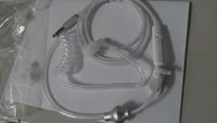 2014 new arrival,Acoustic radiation free spiral transparent air tube earphone hook with mic control handsfree