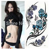 Free SHipping Hot saling 2014 Waterproof sexy Tattoo female hm341 rose