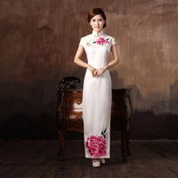 Cheongsam dress summer fashion vintage chinese style cheongsam placketing long design female wedding dress