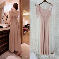 2014 women's sexy slim tall waist straps dress fashion women summer dress cotton full dress