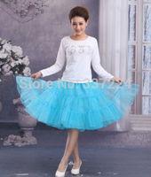 """26""""50s Retro Underskirt Swing Vintage Petticoat Fancy Net Skirt Rockabilly  sky blue"""