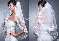 2 Layer Ivory Wedding Bridal Bride Bridesmaid Girls Elegant Lace Veil Comb