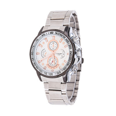 Hot Market Promotion Fashion Brand Men's Sports And Leisure Business Suppliers Luxury Gift Steel Quartz Watch LONGBO-8783(China (Mainland))