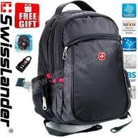 Men Swisslander,Swiss Army,Laptop backpack,Computer backpack,Laptop bag,college backpack,notebook bags,w/ lock, raincover,card