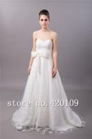 designer floor-length wedding dress plus size off the shoulder  bridal dress custom made