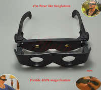Adjustable 400% magnification Glasses Telescope Magnascope like Sunglasses Free Shipping
