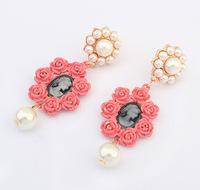 YXSP1618       2014 new fashion  Retro Rose    earring for women