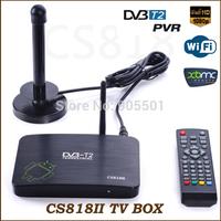 Free shipping DVB-T2 PVR Android TV BOX CS818II Media Player Amlogic Aml8726MX 1G/8G HDMI WiFi Smart IPTV Tuner DVB T2 Receiver