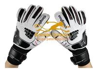 Free shipping 2014 Brand professional football soccer goalkeeper gloves  men finger protection gloves