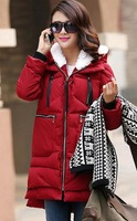 Free shipping/More female in han edition big yards long military leisure down cotton-padded clothes