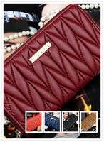 Vintage Womens Wallet Genuine Skin Leather Flip Card Credit Case Centre Cluth Purse Handbag High-end Suede Wallet 36221