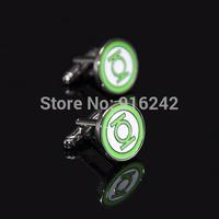 Directly Factory High Quality Gun Black Comics Green Lantern Cufflinks Cuff Links