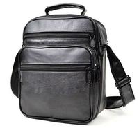 High class Soft Black Leather Men Messenger Bags