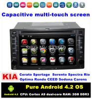 6.2'' Android 4.2 Kia Universal Car PC For Ceed Cerato Sorento Rio Optima Sportage With CPU: Cortex A9 dual-core RAM: 1GB DDR3