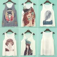 Sweet Women Girls Chiffon Tops Cami Sleeveless T-shirt Casual Tank Top Vest #58180