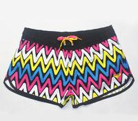Retail spring 2014 brand lady girls summer surf women shorts beach swimwear swimsuit sprots boardshorts Wave stripe board shorts