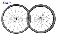 Super light!201 3.4  clincer Basalt full carbon bicycle wheelset,with Titanium QR,38mm+50mm clincher,700C road bike wheel,1450g