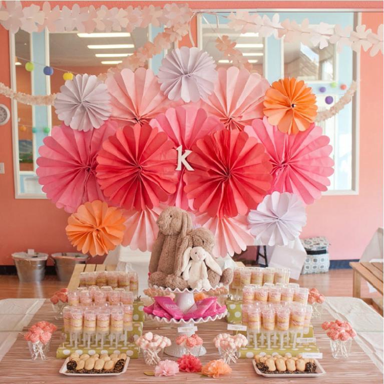 Free Shipping 30pcs/Lot 20cm Paper Fan Wholesale/Retai Honeycomb Paper Fan TissueParty Wedding Backdrop Home Decorations(China (Mainland))