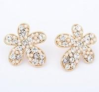 YXSP1635      2014 new fashion  Pretty woman flowers ladies fashion boutique     earring for women