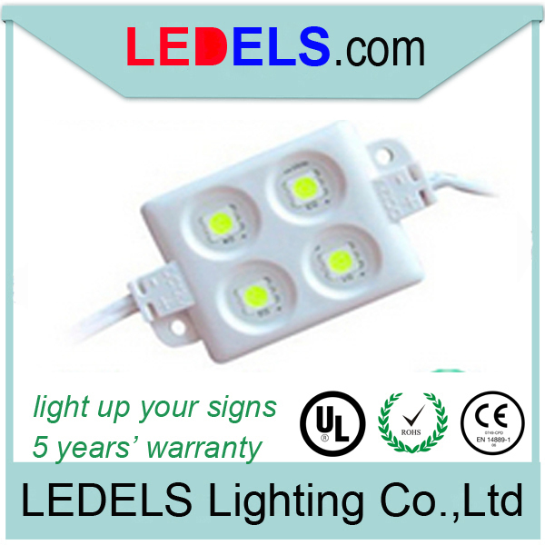 100pieces\lot CE ROHS 12V 0.96W SMD 5050 4 LED Epistar module shop sign light channel letter 5 years warranty waterproof(China (Mainland))