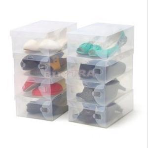 2014 New Eco-Friendly Home Using Storage Box/Rectangle Plastic Shoes Boxes/Convenient Transparent Shoes Storage Box(China (Mainland))
