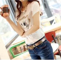 summer dress 2014 t-shirt women crop top tshirt  skirts plus size S-3XL  clothes