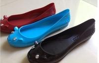2014 european MJ   lady cute jelly mouse pvc flat shoe comfort fashion lovely star style four  season rain shoe Eur 36-40