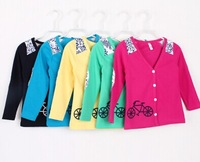 wholesale Han edition 2014 private label stitching cardigan Children cardigan coat free shipping