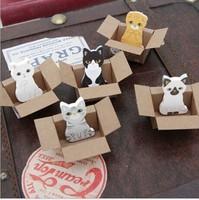Free ship 1lot=20pcs/korean stationery kawaii  Lovely kitten cartoon  post-it note paper N stick