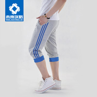 New Male sports capris thin shorts casual slim ultra-light breathable sports knee length cotton trousers outdoor sports wear