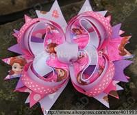 20pcs/lot 5.5'' FROZN hair bows Princess hair accessories,Boutique Hair bow,Elsa Anna Sophia Micky Kitty Bow