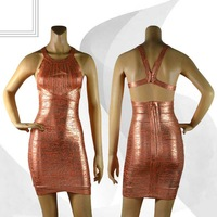 Summer gilding bodycon celebrity party mini dress 2014