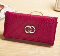 Rose burst models simple fashion fold wallet wallet ladies hand wallet purse Wholesale Wholesale Korean