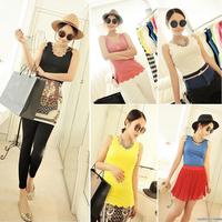 Sexy All-Match Fashion Women Cotton Sleeveless Petal Vest Top Blouse  #58163
