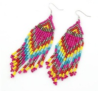 2014 Free Shipping Fashion New Arrival Bohemia Style Colorful Measle Earring  Beads Drop Earring For Women Jewelry DYE01
