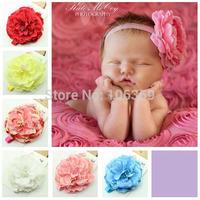 Baby Girl Headbands Big Flower Headband Lace Hairband Infant Children Hair Accessories Photo Props 12pcs HBD05